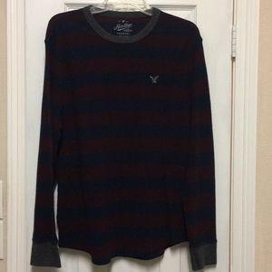 Men's Long Sleeved Thermal Hollister Shirt L